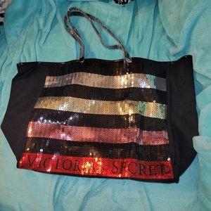 Victoria's Secret sequin tote bag, NWT